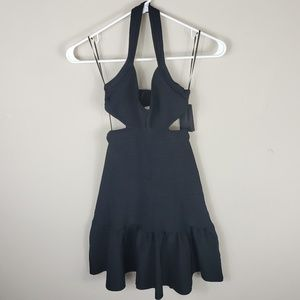 NWT | Guess | Black Side Cut Out Halter Dress